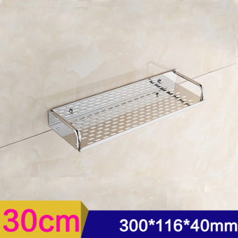 30cm Single Tier Rectangle Bath/Kitchen Rack Bathroom Shelf SpaceStorage For Kitchen Bathroom/Stainless Steel Wall Mounted StorageShelf-Intl Price Philippines