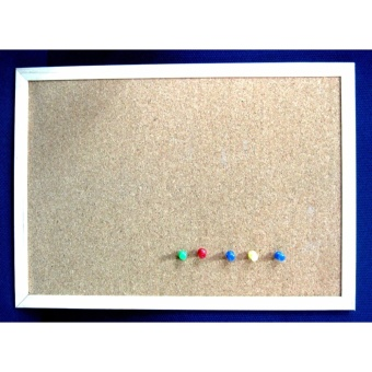 30cmx40cm Cork Board Wooden Frame for Notes and Memos etc.