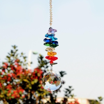 30mm Chandelier Crystals Ball Prisms Rainbow Octogon ChakraSuncatcher for Gift - intl