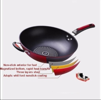 32CM Cooking Pots Pans Smokeless Wok Sets Non-Stick Cookware Smoke Kitchen Supplies - intl