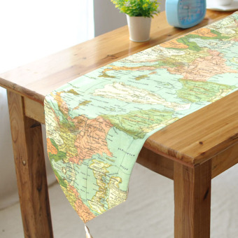 32x150cm Table Runner Wedding Baptism Birthday Party Banquet EventDecorations Cool Asian Map