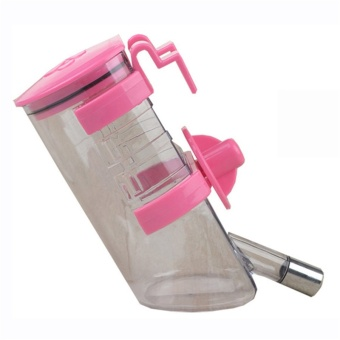 350ml Pet Dog Cat Large Automatic Waterer Drink Dispenser(Pink) -intl