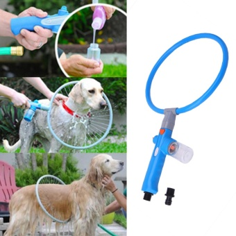 360 Degree Pet Dog Puppy Bath Washer Sprayer Cleaner Cleaning RingAccessories (L) - intl