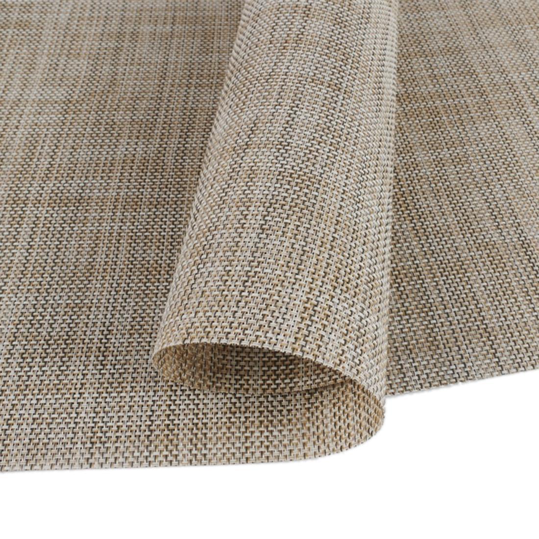 360DSC Simple Design Linentte Tableware Mat Table Runner KnitTablecloth Desk Cover - Beige