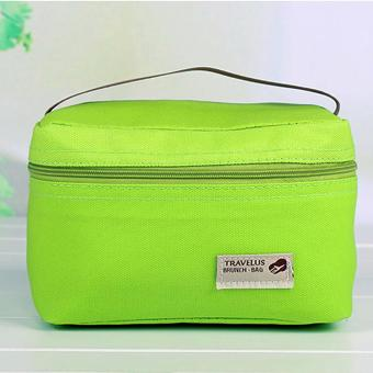 360DSC Waterproof Lunch Box Storage Bag Portable Thermal CoolerBento Pouch - Apple Green Price Philippines