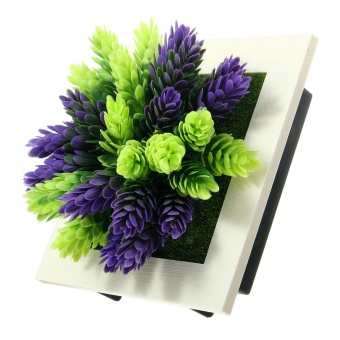 3D Artificial Plant Flower Wall Hanging Decal Photo Frame Home Office Art Decor - intl