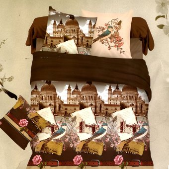 3D Bedsheet Colosseum Rome Theme Single Queen King Fitted SheetCover Linen Collection Bedding Set with Pillowcase