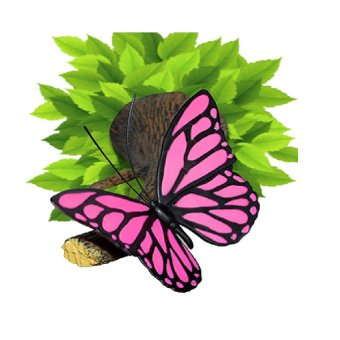 3D Deco Lights Pink Butterfly