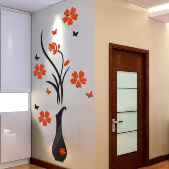 3D Flower Home&Room Decor DIY Wall Sticker Removable AcrylicDecal Mural - intl