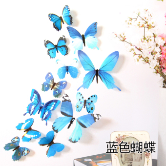 3D model three-dimensional Butterfly stickers wall stickers