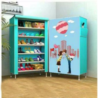 3D Pattern Non-Woven Folding Shoe Storage Price Philippines