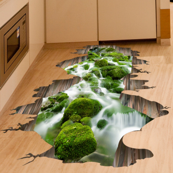 3D wall adhesive paper sticker bedroom floor stickers