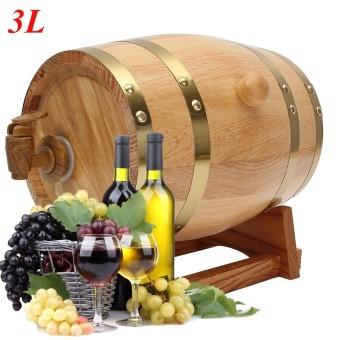 3L Vintage Wood Oak Timber Wine Barrel For Beer Whiskey Rum Port Keg Storage - intl - 5
