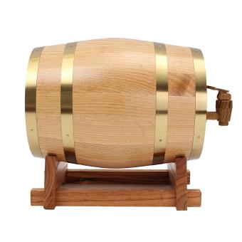 3L Vintage Wood Oak Timber Wine Barrel For Beer Whiskey Rum Port Keg Storage - intl - 2