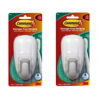 3M Command Bath Hook 1pc 2strips Pack of 2 (White)