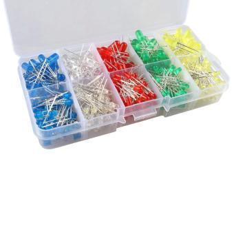 3mm 5mm LED Light-emitting Diode Beads Resistance Lights Kits(375PCS) - intl - 2