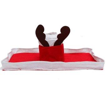 3pcs Elk Deer Reindeer Toilet Seat Cover Rug Bathroom Set Christmas Decorations - picture 4