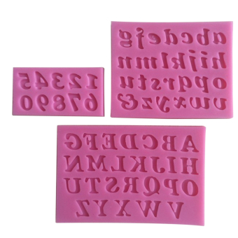 3PCS Mini Silicone Cake Mould Handmade Letter And Number FondantCraft Cake Decorating Mold DIY Bakeware For Kitchen Baking Pink Price Philippines