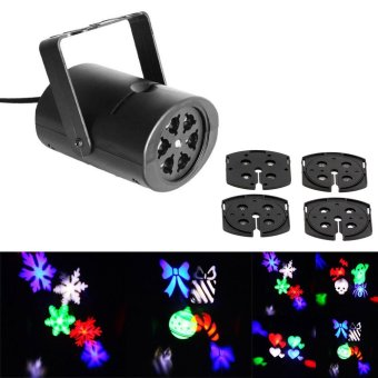 3W 4 Patterns RGB LED Stage Effect Light Laser Projector for Xmas Christmas Party Disco DJ Bar Club KTV Lamp LED Logo light - intl