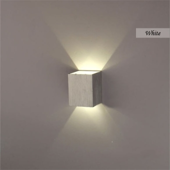 3W LED Square Wall Lamp Hall Walkway Living Room Light Fixture(White) - Intl - 2