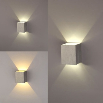 3W LED Square Wall Lamp Hall Walkway Living Room Light Fixture(White) - Intl