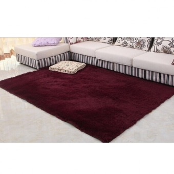 4 cm silk hair living room coffee table bedroom carpet Burgundy