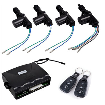 4 Door Power Central Lock Kit Car Remote Control Conversion w/2 Keyless Entry