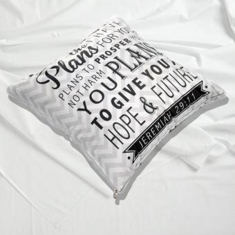 4 in 1 Celebrity Fleece Throw Pillow Blanket Bed Mat Jeremiah 29:11 Bible Verse (Multicolor) - 4