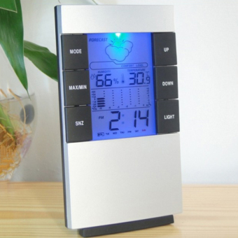 4 in 1 LCD Digital Display Desk Table Clock,Hygrometer HumidityThermometer Electronic Weather Monitoring Station Calendar Alarm -intl
