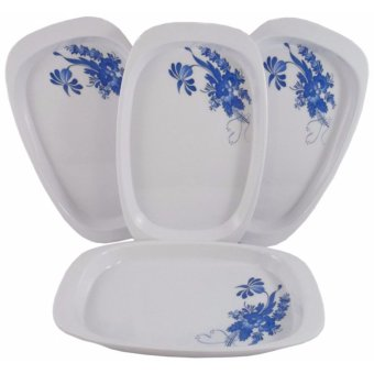 4-pc 9'' Small Serving Tray (Blossom Design) Price Philippines