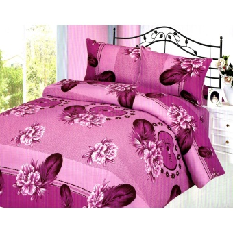 4-Piece Queen Size Bedding with Luxury Cotton Feel- Roses andFeather Series by Manhattan Homemaker