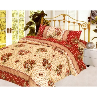 4-Piece Queen Size Bedding with Luxury Cotton Feel- Rosy October Series by Manhattan Homemaker