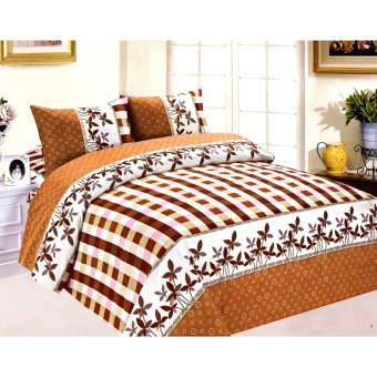 4-Piece Queen Size Bedding with Luxury Cotton Feel- Sicilian Fields Series by Manhattan Homemaker