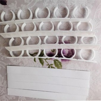 4 Rows/Set Spice Rack Spice Wall Storage Plastic Kitchen Organizer Rack 12 Cabinet Door Hooks 4PCS/SET Kitchen Accessories - intl