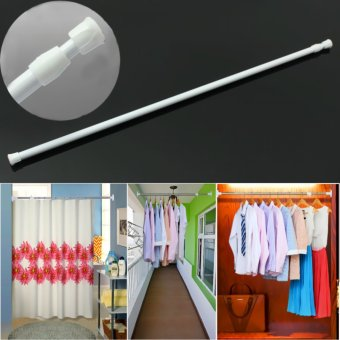 40-75Cm Spring Net Shower Curtain Rods Voile Extendable Tension Telescopic Poles - 2