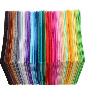 40 Pcs 1mm Thickness Polyester Felt Sheets Non Woven Fabric - intl