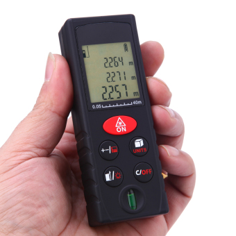 40m/131ft Mini Handheld Digital Laser Distance Meter Range Finder Area Volume Measurement Level Bubble - intl