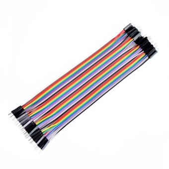 40pcs dupont cable jumper wire dupont line Male to Male dupont line 20cm 1P diameter:2.54mm Price Philippines
