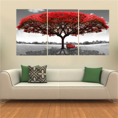 40x60cm Red Tree Modern Abstract Oil Painting On Canvas Art No Frame Home  Wall Decoration