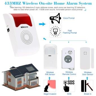 433MHZ Wireless On-site Home Security Burglar House Alarm SystemTomnet - intl - 5
