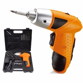 45 Pcs in 1 Cordless Electric Screwdriver Drill Tools Set HomeWalls Wood (Orange)