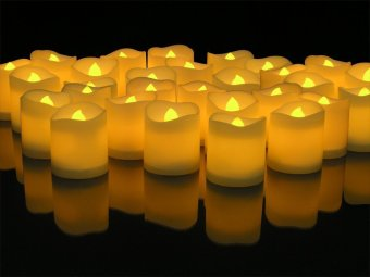 48pcs LED wave type candle lamp (yellow light) - intl