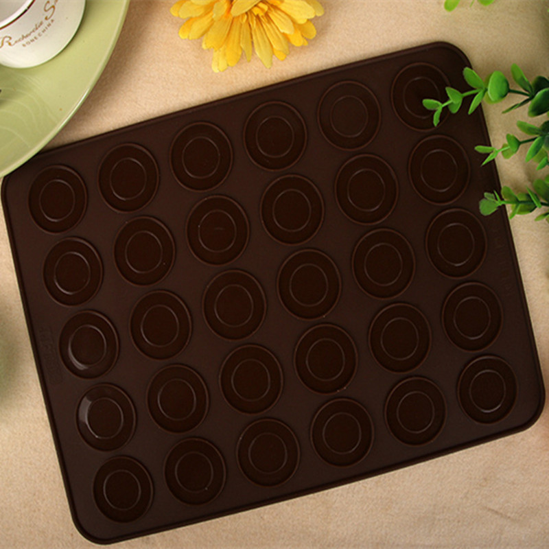 4ever 1pcs 30-cavity Silicone Cake Macaron Mould Oven Baking PastryMould Sheet Mat - intl