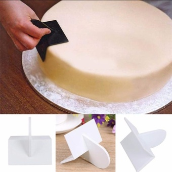 4ever Cake Smoother Polisher Smooth Tools DIY Fondant Cake ToolsMould Surface Polishing Pastry Molds Cupcake - intl