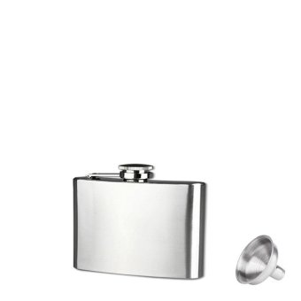 4oz Stainless Steel Pocket Hip Flask Alcohol Whiskey Liquor ScrewCap (Silver)