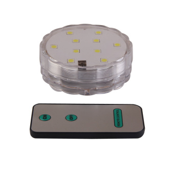 4Pairs Waterproof 10 LEDs Submersible Light Lamp Remote Control White (Intl)