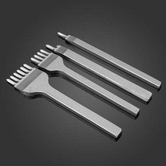 4pcs 1/2/4/6 Prong Diamond Chisel Hole Punch Leather Craft DIY Tool - intl - 3