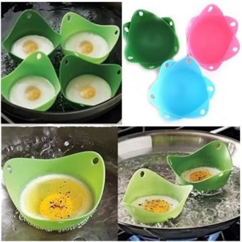 4pcs Silicone Egg Poach Pod Poacher - Blue