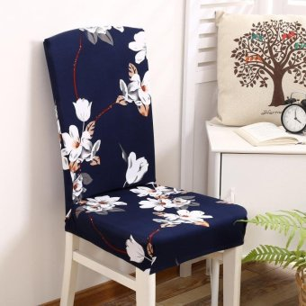 4pcs Stretch Seat Chair Cover Kitchen Dining Bar Slipcover PartyBanquet Decor Flower #19 - intl