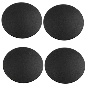 4Pcs Unibody Bottom Case Rubber Foot Feet Pad for Apple MacBook Pro 13/15/17 Inches (Black)